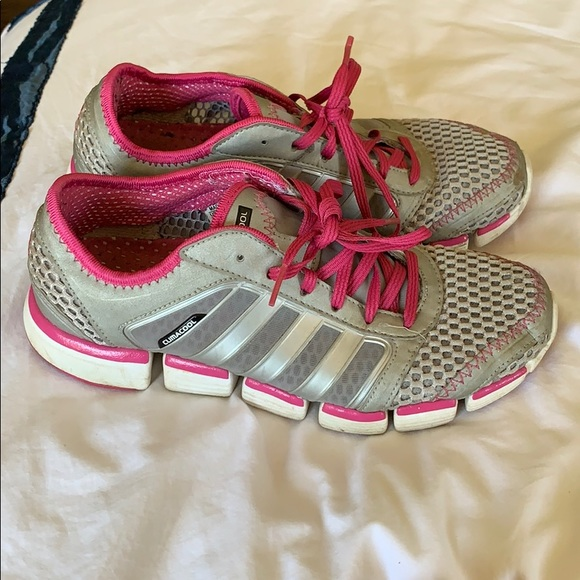 more photos 0f7a5 6a4c5 Adidas Climacool Grey Pink Mesh Running size 6.5